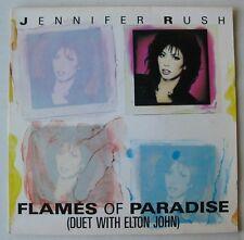 JENNIFER RUSH (SP 45T) FLAMES OF PARADISE (DUET ELTON JOHN)