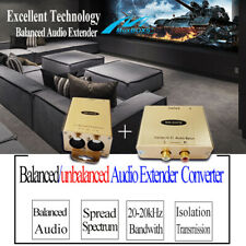 Balanced to UnBalanced Audio Isolated Extender XLR/RCA Adapter Audio Converter