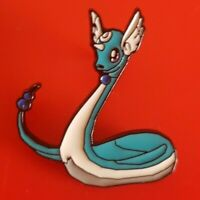 Dragonaire Pin Pokemon Blue 90s Kid Pin Enamel Retro Metal Brooch Badge Lapel