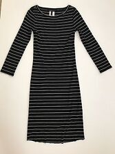 Bcbg bcbgmaxazria dress strip black white size M
