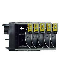 5 Tinte Schwarz für DCP145C DCP165C DCP185C DCP195C ersetzt Brother LC980 LC1100
