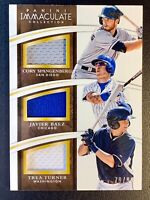 2015 Panini Immaculate JAVIER BAEZ Rookie Triple Jersey Patch Relic SP /99 CUBS