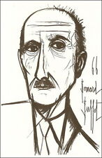 """Bernard BUFFET, Lithographie Originale """"Mauriac"""" Signée"""