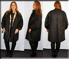 New Black Rain Coat Fur Lining Size 2XL 18 2 Extra Large Efurs4less