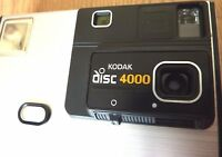 Vintage 80s Kodak Disc 4000 Compact Fixed Focus Camera with original box