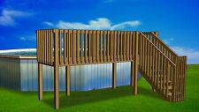 4'x16' DIY Deck, Fence, Ladder & Enclosure Gate Kit, SWIMMING POOL ENTRY SYSTEM
