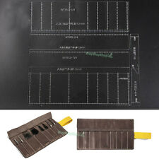 Roll Storage Bag Acrylic templates Tool Punch Leather Pattern 852 MODEL Amateurs