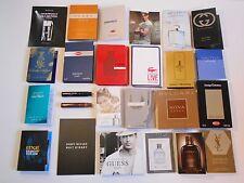 Lot of 25 Mens Cologne Samples Gucci Calvin Klein Paco Rabanne Bugatti Armani