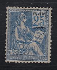 FRANCE MOUCHON TYPE II yt 114  N** TTB 25c bleu cote 375€ TTB