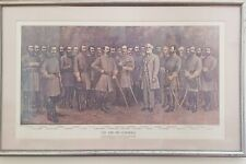 "Lee and His Generals Vintage C.B. Williams Print, Framed, 27 1/8"" X 17 1/8"""