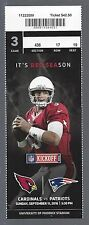 2016 NFL NEW ENGLAND PATRIOTS @ CARDINALS FULL FOOTBALL TICKET (SUPER BOWL LI)