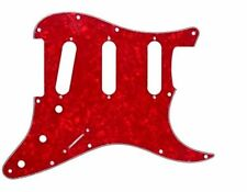 RED pearloid pickguard for Strat Stratocaster style electric guitars 11 hole RED