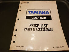 Yamaha Golf Car Price List Parts & Accessories LIT-10021-01-19