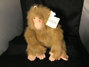 "Dakin Huggables Plush JACOB Soft Furry Ape Monkey Stuffed Animal 15"" New W/ TAGS"