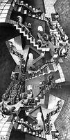 MC Escher 'House of stairs' - FINE ART PRINT Escher Optical Illusion Art