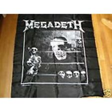 """MEGADETH RARE VINTAGE WALLHANGING TAPESTRY 40"""" X 45"""" COUNTDOWN"""