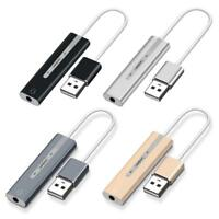 2 in 1 Externe Soundkarte USB auf 3,5mm Klinkenstecker 3D Audio Mikrofon Adapter