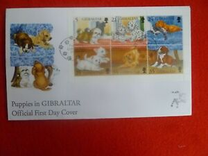 1996 PUPPIES DOGS  MINI SHEET SET 6 STAMPS FIRST DAY COVER
