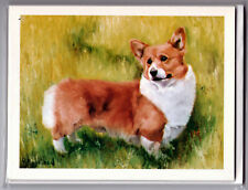 New Welsh Corgi Standing In Grass Notecards 6 Note Cards Envelopes Ruth Maystead
