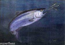 JIM GILBERT 1932 - 2000 artist signed print Hakai Chinook Fisherman's art
