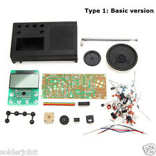 DIY Black FM Radio Kit Electronic Learning Suite Kit          USA SHIPPING