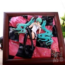 HOT Hatsune Miku World Is Mine Figure Brown Frame PVC Figure Doll Anime Toy NEW