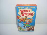 Mutt and Jeffs Wacky Western Cartoon VHS Video Tape Movie