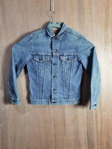 Vintage Levi's Trucker Blue Denim Jeans Size 36R Long sleeve Jacket 75505-0211