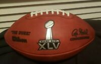 Wilson Super Bowl XLV Packers/Steelers The Duke autographed troy Aikman football