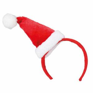 Damen Weihnachtsmann Mütze Nikolausmütze Mini Weihnachtsmütze Mini Hut Minimütze