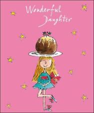 Wonderful Daughter Quentin Blake Christmas Greeting Card Popular Xmas Cards