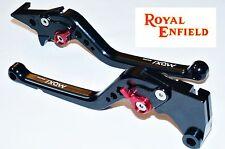ROYAL ENFIELD 6 Position Adjustable Brake Clutch LONG Levers BLACK