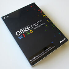 Microsoft Office Mac 2011 Home and Business, W6F-00063, Full UK Retail Box, New
