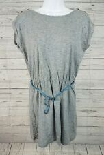 Sessun Sleeveless Chad Dress Sz Large Gray Blue Heathered Belted