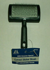 Millers Forge Mini Curved Slicker Brush for Small Dog or Cat