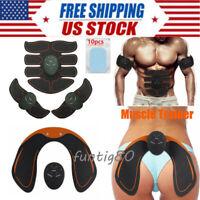 ABS Abdominal Muscle Trainer EMS Stimulator Toning Belt Smart Home Training Set