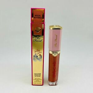 Too Faced Rich Dazzling High-Shine Sparkling #Social Butterfly Lip Gloss~0.25oz