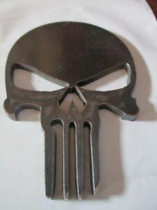 """5"""" tall 3/16"""" Steel Plate Punisher Skull Metal Sign Cutout Art CNC Plasma"""