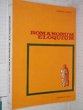 ROMANORUM ELOQUIUM Natalino Palermo Federico & Ardia 1966 libro classici latini
