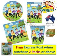 The Wiggles Birthday Party pack Plate Cup Napkin Supplies loot bag Decoration