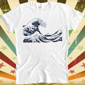 The Great Wave off Kanagawa Retro Hipster Unisex Cool T Shirt 3012