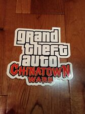 Grand Theft Auto Chinatown Wars Rockstar Games LOGO Sticker New Rare