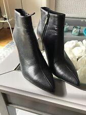 Black Snakeskin Ankle Boots Size UK 5/38