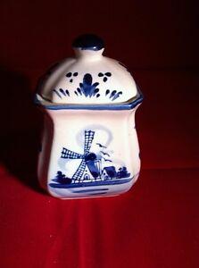 Delft Blue Porcelain Hand painted SPICE POT