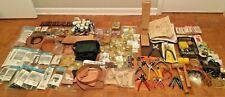 HUGE Lot of Vintage Tandy Leathercrafting Tools Stamps Supplies Kits Accessories