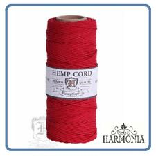 HEMPTIQUE 100% Pure  HEMP CORD SPOOLS  1mm Cord 62.5m spool  RED