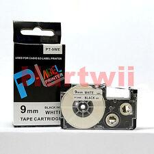 Compatible Casio XR-9WE Black on White 9mm 8m Label Tape KL100 KL-120 XR-9WE1
