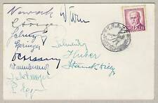 1947 WORLD Ice HOCKEY Championships AUSTRIA team AUTOGRAPHS Olympic PARTICIPANTS