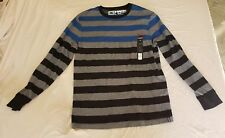 NWT Tony Hawk Men's Long Sleeve Multicolored Striped Shirt Size Large  L