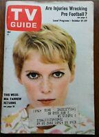Vintage 1967 MIA FARROW TV GUIDE-DonKnotts-SophiaLoren-JamesPrichett-DQuine-OHEd